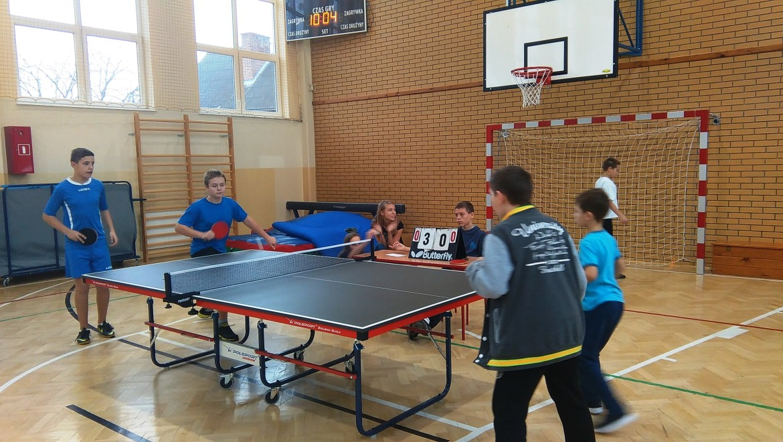 Mistrzostwa Gminy Kozienice w tenisie stołowym chłopców